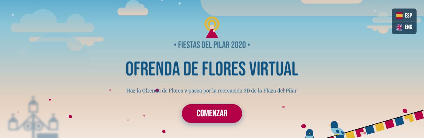 Hacer ofrenda de flores virtual a la Virgen del Pilar