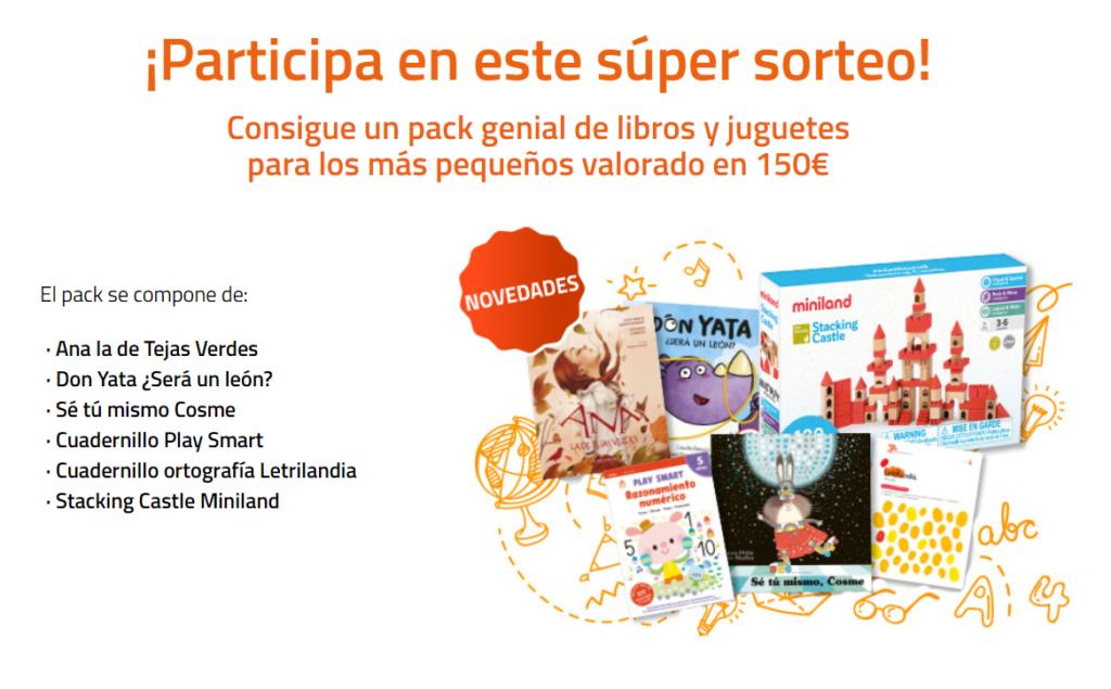 Consigue un pack de libros y juguetes infantiles valorado en 150 Euros