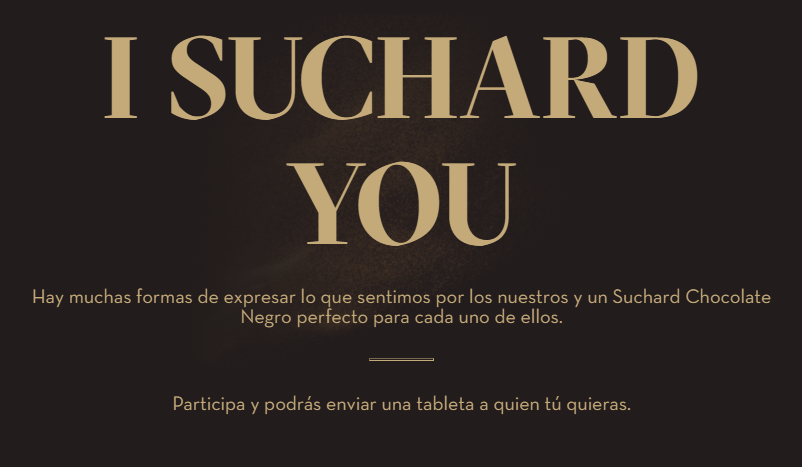 Gana una tableta de chocolate negro Suchard para quien tú quieras
